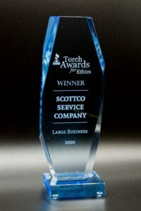 Torch Awards trophy for Scottco | AC repair services in Amarillo Texas