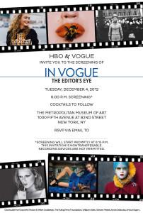 Vogue invite