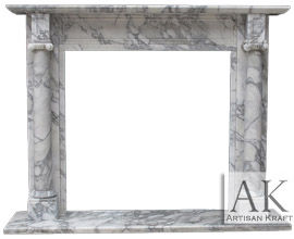Barrington Italian Carrara Marble Mantel