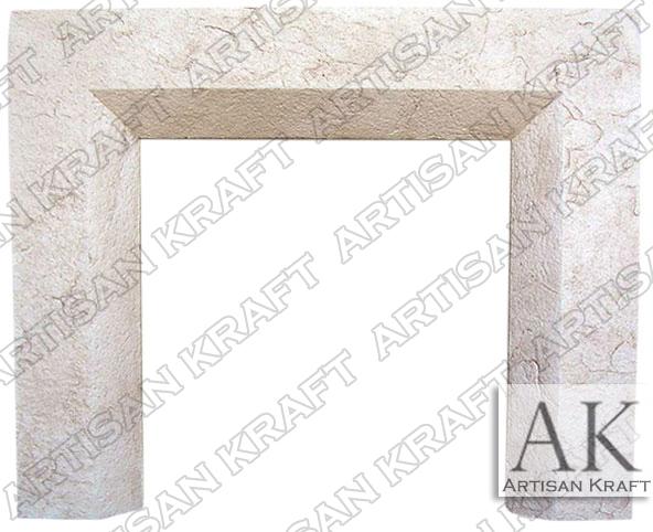 Beveled-Cast-Stone-Fireplace-Mantel