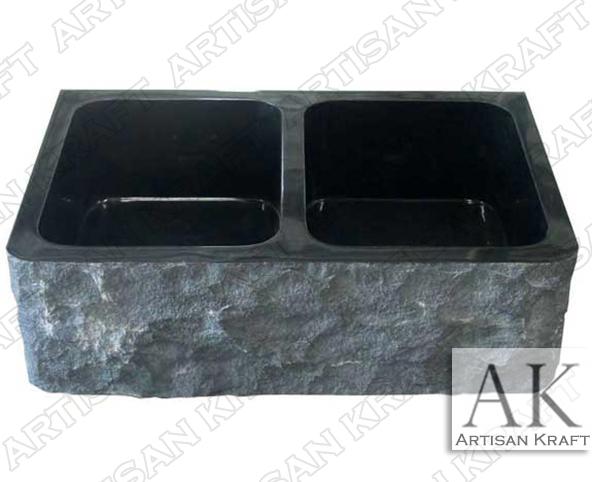 Black-Marble-Natural-Farmhouse-Sinks