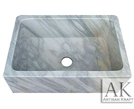 Carrara White Marble Farmhouse sink