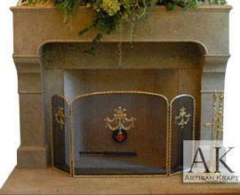 Chantel Cast Stone Mantel Fireplace