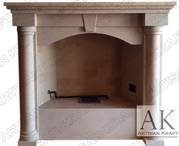 Colonial-Arch-Marble-Fireplace