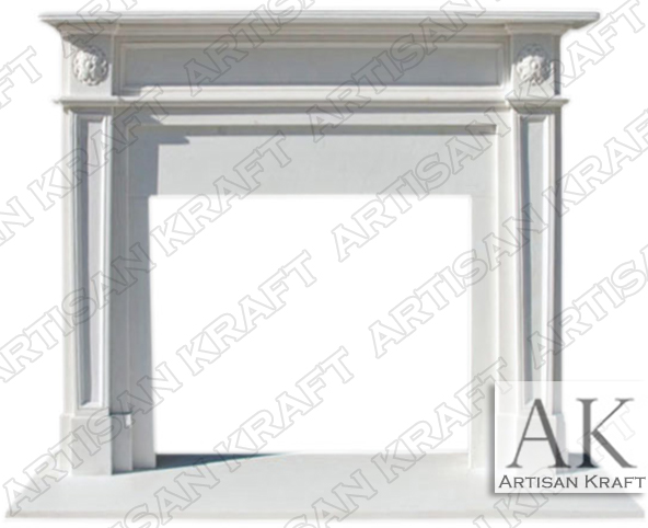 English-Regent-Marble-Mantel-White-Fireplace-Surround