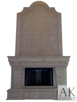Grand Ionic Cast Stone Fireplace