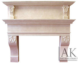Grand Tiered Overmantel
