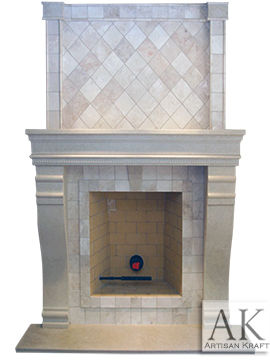Hampshire Cast Stone Mantel
