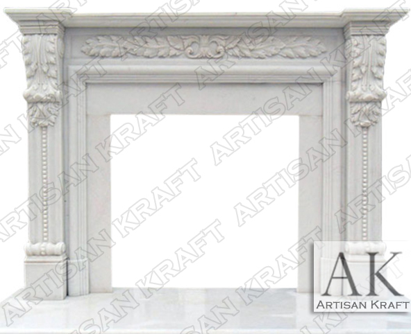 Hinsdale-White-Marble-Mantel