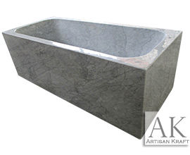 Tub Italian Carrera Marble Rectangular Bathtub