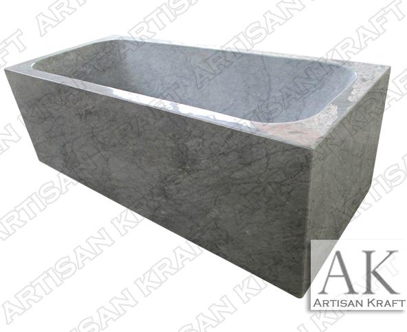 Italian Carrera Marble Rectangular Bathtubs