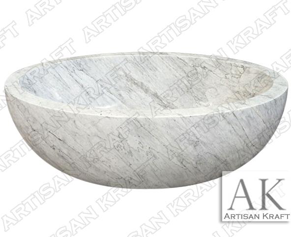 Italian Carrara Oval Bathtub