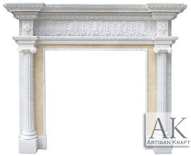 Carved Ionic Albany Antique Mantel New York Fireplace