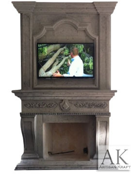 Leon Cast Stone Upper Mantel Fireplace
