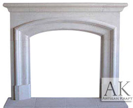 Marlboro Cast Stone Fireplace Mantel