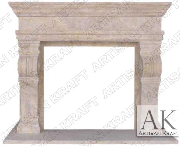 Melrose-Travertine-Fireplace-Mantels
