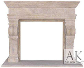 Melrose Travertine Fireplace Mantels