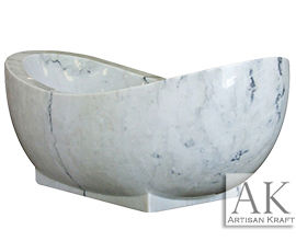 SALE – White Moon Marble Bathtub Natural Stone