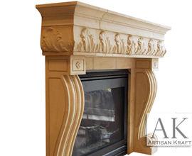 Naples Cast Stone Fireplace Surround