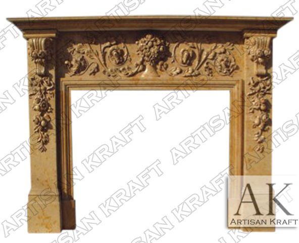 New Jersey Marble Fireplace