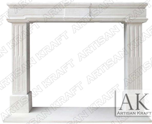 Newport-Mocca-Limestone-Fireplace