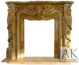 Pasadena Marble Fireplace
