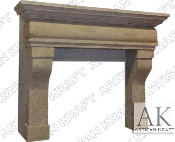 Rustic-French-Sandstone-Mantel-Surround