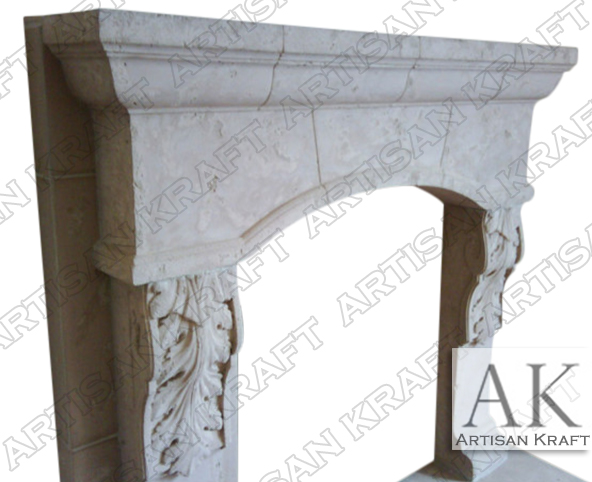 SCOTTSDALE-CAST-STONE-MANTEL FIREPLACE