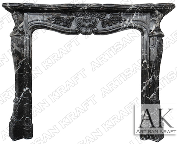 St-Louis-French-Fireplace-Black-Marble-Mantel-Antique