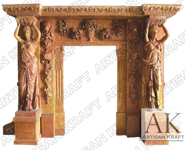 Statue-Marble-Fireplace