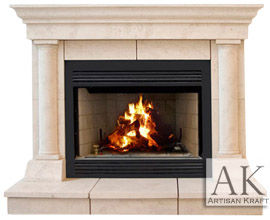Tuscan Cast Stone Mantel Fireplaces Surround