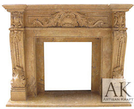 Verona Antique Fireplace Mantel Surrounds