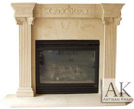 Windsor Cast Stone Fireplace