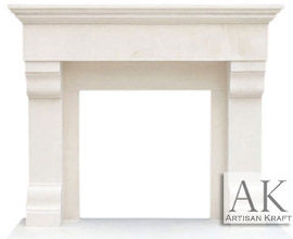 Winnetka Limestone Mantel Surround Fireplace