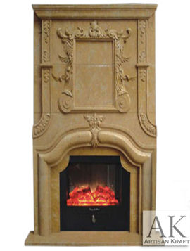 Seville Marble Overmantel Antique Fireplace
