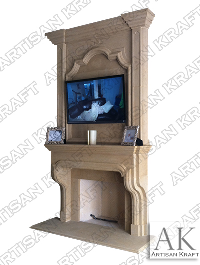 Classic English Cast Stone Overmantel Fireplaces