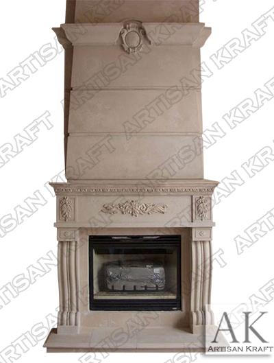 denver fireplace mantel surround limestone