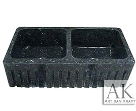 Black Marble Farmhouse Sink
