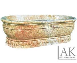 Roman Marble Bath Pedestal Tub Freestanding