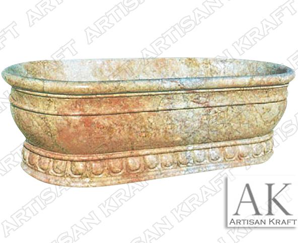 Roman Marble Bath Pedestal Bathtub