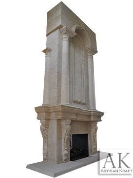 Grand Tradition Custom Cast Stone Fireplace Mantel
