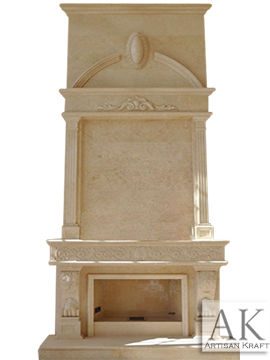 Italian Tradition Marble Fireplace Overmantel