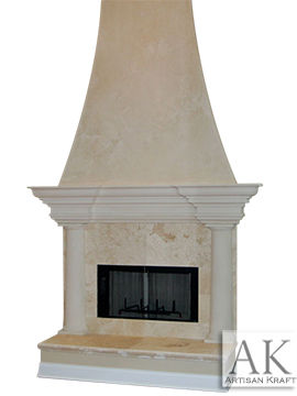 Mesa Faux Stone Fireplace Mantel