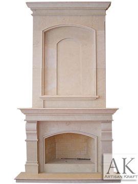Metropolis Marble Overmantel Fireplace