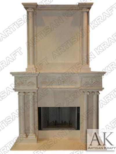 tuscany overmantel Italian Cast stone fireplace