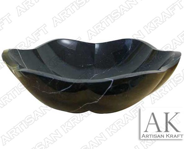 Black-Forest-Marble-Artisan bathroom marble sink