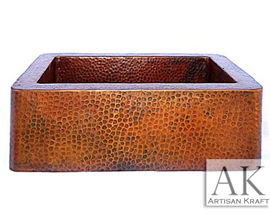 Farmhouse Hammered Copper Sink