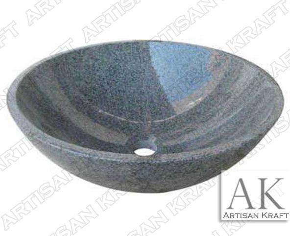 Gray-Moon-Granite-Sink bathroom vanity sink