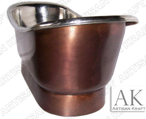 Nickel-Plated-Smooth-Copper-Bath-Tub