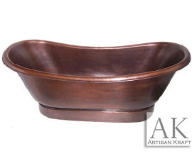 Smooth Copper Bath Tub